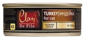 Clan De File - Консервы для кошек (индейка) № 72