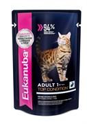 Eukanuba - паучи для взрослых кошек (с кроликом в соусе) Adult Cat Top Condition with Rabbit