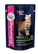 Eukanuba - паучи для взрослых кошек (с говядиной в соусе) Adult Cat Top Condition with Beef