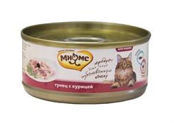 Мнямс - Консервы для кошек (тунец с курицей в нежном желе)