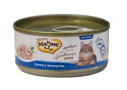 Мнямс - Консервы для кошек (тунец с анчоусами в нежном желе)