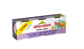 Almo Nature - Низкокалорийные консервы для кошек (c Тонгольским Тунцом) Набор 3 шт. по 50 г Classic Light Cat Tongool Tuna