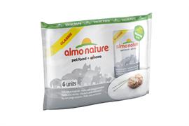 Almo Nature - Паучи для кошек (с Курицей и Сардинками) Набор 6 шт. по 55 г Multipack Chicken and Whitebait