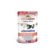 Almo Nature Alternative - Паучи для кошек (с лососем), 91% мяса Alternative Salmon