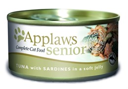 """Applaws - Консервы для пожилых кошек """"Кусочки в желе"""" (с тунцом и сардинками) Senior Cat Tuna with Sardine in Jelly"""