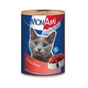 MonAmi - Консервы для кошек (с говядиной)