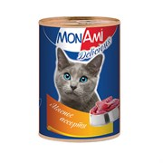 MonAmi - Консервы для кошек (мясное ассорти)
