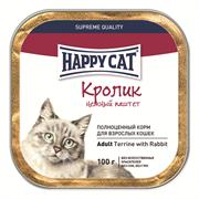 Happy Cat - Паштет для кошек (кусочки кролика)