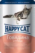 Happy Cat - Паучи для кошек (с говядиной и птицей)