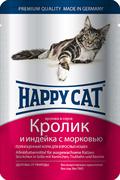 Happy Cat - Паучи для кошек (с кроликом, индейкой и морковью)