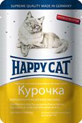 Happy Cat - Паучи для кошек (ломтики курицы)