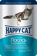 Happy Cat - Паучи для кошек (с лососем и креветками)