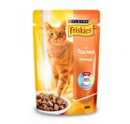 Purina Friskies - Влажный корм для кошек (с курицей в подливе)