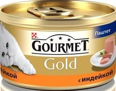 Purina Gourmet - Влажный корм для кошек (Паштет из индейкой) Gold