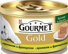 Purina Gourmet - Влажный корм для кошек (Кусочки в паштете из кролика по-французски) Gold Террин