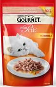 Purina Gourmet - Влажный корм для кошек (с лососем) Mon Petit