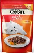 Purina Gourmet - Влажный корм для кошек (с говядиной) Mon Petit