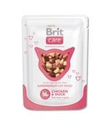 Brit - Паучи для кошек (с курицей и уткой) Care Chicken&Duck