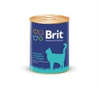 Brit - Консервы для кастрированных котов (Мясное ассорти с птицей) BEEF AND CHICKEN MEDLEY