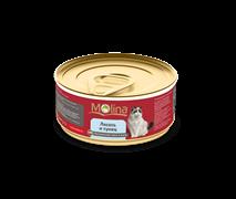 """Molina - Консервы для кошек """"Лосось с тунцом в желе"""""""