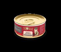 """Molina - Консервы для кошек """"Тунец с цыпленком в желе"""""""