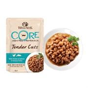 Wellness Core - Паучи для кошек (нежные кусочки курицы и лосося в пикантном соусе) Tender Cuts