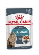 Royal Canin - Паучи для взрослых кошек (мелкие кусочки в соусе) HAIRBALL CARE