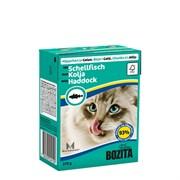 BOZITA - Консервы для кошек (кусочки в желе с морской рыбой) Tetra Pak Feline Haddock