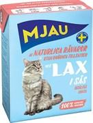 Mjau - Консервы для кошек (кусочки в соусе с лососем) Tetra Recart