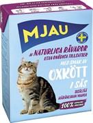 Mjau - Консервы для кошек (кусочки в соусе с говядиной) Tetra Recart
