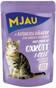 """Mjau - Паучи для кошек """"Ароматная говядина в желе"""""""