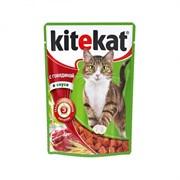 Kitekat - Паучи для кошек (с говядиной в соусе)