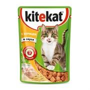Kitekat - Паучи для кошек (с курицей в соусе)