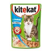 Kitekat - Паучи для кошек (с рыбой в соусе)