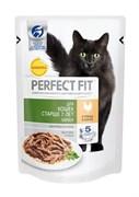 Perfect Fit - Паучи для пожилых кошек (с курицей в соусе)