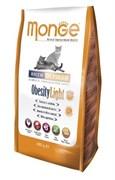 Monge - Сухой корм для кошек низкокалорийный (курица) Cat Obesity Light
