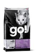 GO! Natural Holistic - Сухой корм беззерновой для котят и кошек (4 вида мяса: курица, индейка, утка и лосось) Fit + Free Grain Free Chicken, Turkey, Duck Cat Recipe