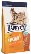 Happy Cat - Сухой корм для домашних кошек «Атлантический лосось» Adult Indoor