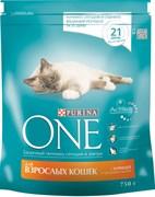 Purina ONE - Сухой корм для взрослых кошек (с курицей и цельным злаками)