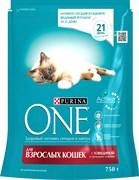 Purina ONE - Сухой корм для взрослых кошек (с говядиной и пшеницей)