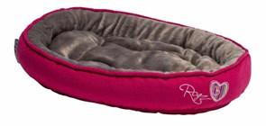 "Rogz - Лежак с мягкой подушкой ""Розовые леденцы"", средний (56х39х13см) SNUG PODZ"
