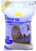 """Eurolitter - Наполнитель комкующийся без пыли """"Контроль запаха"""" для кошек (с ароматом лаванды) Dust Free"""