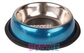 """Dezzie - Миска для кошек """"Штиль"""", 225 мл, металл"""