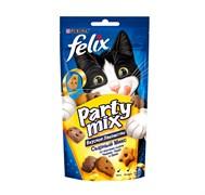 Purina Felix - Лакомство для кошек (со вкусами сыров чедер, гауда и эдам) Party Mix
