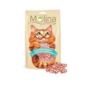 """Molina - Лакомство для кошек """"Куриный сэндвич с сырными шариками"""""""