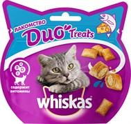 Whiskas - Лакомые подушечки (с лососем и сыром) Duo Treats