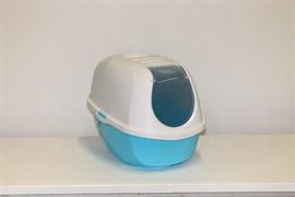 Moderna - Туалет-домик SmartCat с угольным фильтром, 54х40х41см,  небесно-голубой