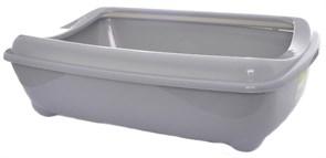 Moderna - Туалет-лоток большой с рамкой artist large + rim, 49х37х13 серый