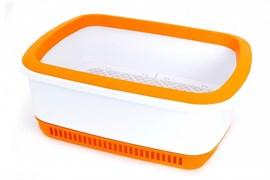 Canada Litter - Кошачий туалет с системой защиты от запаха CatEco (оранжевый)