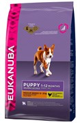 Eukanuba - Сухой корм для щенков средних пород (курица) Dog Puppy & Junior Medium Breed